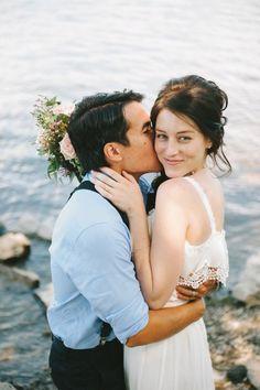 Wedding Photography Ideas : Intimate DIY Wedding // Jessica Bossé Photography
