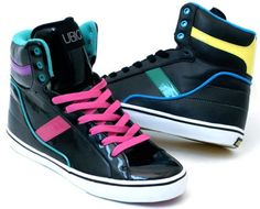 colorful high tops, Too awesome.... want!