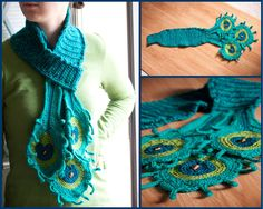 Peacock Scarf Crochet Pattern                                                                                                                                                                                 More