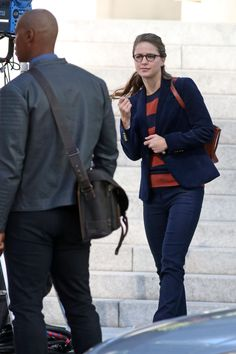 Melissa Benoist - On the set of 'Supergirl' in Vancouver - 09/12/16