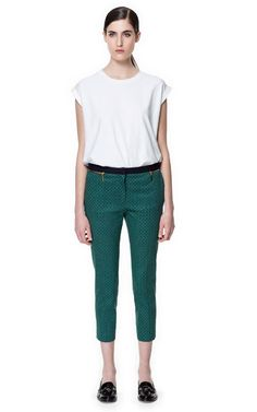TIE - PRINT TROUSERS - Trousers - Woman | ZARA United States