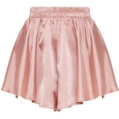 Petite Dusty Pink Floaty Satin Shorts ($25) ❤ liked on Polyvore featuring shorts, satin shorts and petite shorts