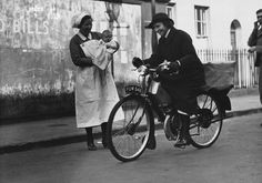 1920- Nurse provided with a motor cycle by the people of her district.
