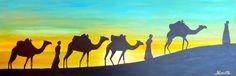 Les Derniers Transporteurs de Sel dans le Désert : Peintures par jean-pierre-peintre