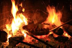 Chestnuts roasting on an open fire!! One of my favourite Christmas traditions
