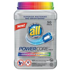 All Powercore Color Protector Laundry Detergent - 50 Count