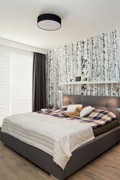 Tapeta w sypialni / Wallpaper in the bedroom,