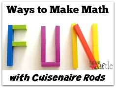 FUN ways to teach multiplication with Cuisenaire Rods