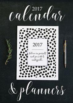 2017 Calendar Planners