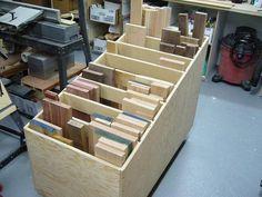 Chariot à retailles / Cutoffs Bin | Atelier du Bricoleur (menuiserie)…..…… Woodworking Hobbyist's Workshop