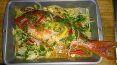 Marinated red snapper