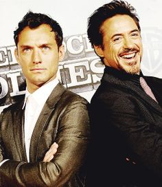 "Jude Law and Robert Downey Jr. (""Sherlock Holmes"")"