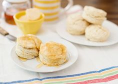Easy Buttermilk Biscuits with Honey Cayenne Butter - Baked Bree