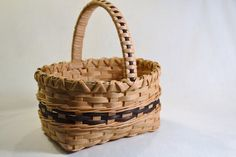 Petite Handmade Reed Basket with Black by BrightExpectations, $22.00