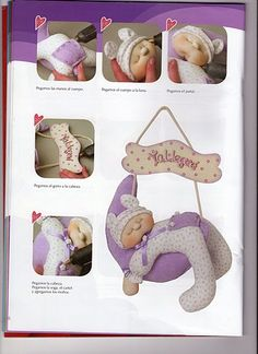 Eu Amo Artesanato: Enfeite de porta de bebê Adorable Baby Doorhanger - Free Pattern and step by step photo tutorial