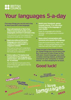 YOUR LANGUAGES 5-A-DAY