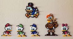 Pato Donald Duck sandylandya.DuckTales Perler Beads, hama beads, bead sprites, nabbi fuse melty beads Collection