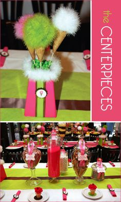 Super cute center pieces!