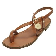 Mulberry - Bayswater Flat Sandal in Oak Dip Dyed Leather - love this colour best though