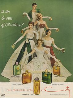 To the beauties of Christmas!  Coty perfumes vintage Christmas ad