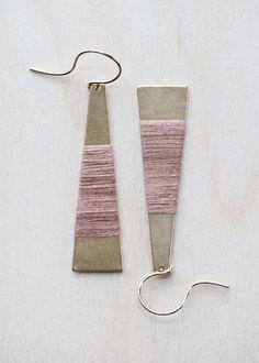 Wrapped Brass Earrings | forestiere on Etsy