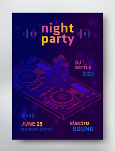 Electro Sound Flyer With Dj Battle party Rock Posters, Technology Posters, Vector Technology, Technology Design, Medical Technology, Battle Party, City Poster, Award Poster, Event Poster Design