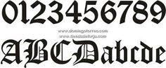Resultado de imagen para diseños de numeros goticos