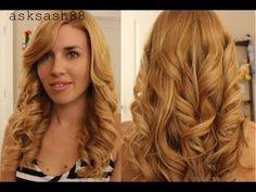 ▶ How to get Curls with a Flat Iron - Easy and long lasting! - YouTube