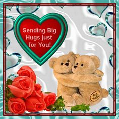Send this ecard to anyone on Hug a Bear Day from your heart. Free online Big Hugs For You ecards on Hug a Bear Day Hugs And Kisses Images, Hugs And Kisses Quotes, Hug Quotes, Hug Love Gif, Hug Gif, Big Hugs For You, My Wish For You, Hug Pictures, Happy Pictures