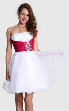 2014 Beading WD 1122 Short White Homecoming Dress Short