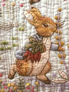 NOVELTY OF THE MONTH PRETTY BUNNY RABBIT EASTER QUILTING FABRIC PANEL NO 27