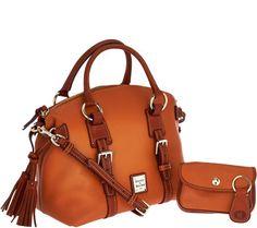 Dooney & Bourke Pebble Leather Domed Satchel w/Accessories