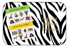 Loto des animaux d'Afrique maternelle