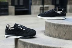 """afd3f3e7a hypebeast  """" adidas releases new black iterations of the Stan Smith and ZX  500 OG models with the """"Made in Germany"""" Black Pack."""