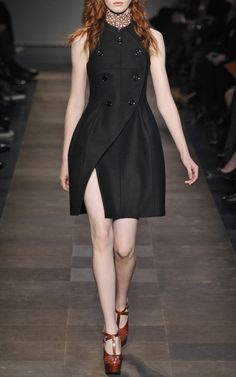 I love the lines of this Compact Drap Wool Waistcoat Dress by Carven. $1,000