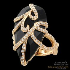 Bellarri Black onyx and diamond ring from Pearlman's Jewelers