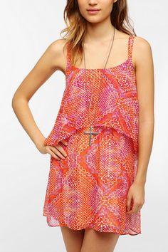 Ecote Double Layer Chiffon Festival Dress #urbanoutfitters