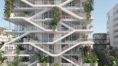 NL*A Reveals Plans for Open-Concept Green Office Building in France,Courtesy of Nicolas Laisné Associés