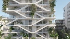 NL*A Reveals Plans for Open-Concept Green Office Building in France,Courtesy of Nicolas Laisné Associés