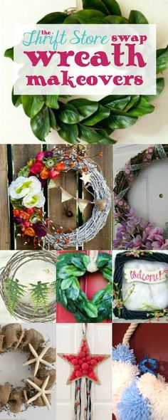 DIY Pom Pom Spring Wreath with the Thrift Store Swap! - Happily Ever After, Etc.
