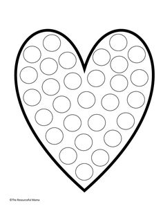 Toddler Learning Activities, Craft Activities For Kids, Valentines Day Activities, Valentine Day Crafts, Diy For Kids, Crafts For Kids, Do A Dot, Aesthetic Stickers, Dot Painting