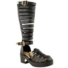 520ce3adf3183 Fashion Thirsty Womens Synthetic Summer Sandals US 5 Black Faux Leathe     Check out this