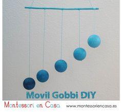 Móvil de bebé Gobbi (Tutorial) - DIY Gobbi baby mobile #montessori