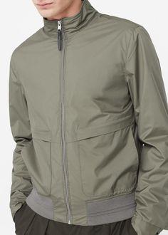 Cazadora tejido técnico | MANGO MAN Tactical Wear, Tactical Jacket, Sport Fashion, Mens Fashion, Man Weave, Boys Hoodies, Sport Outfits, Shirt Style, Sportswear