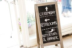 chalkboard at wedding - J Wiley Photography - lincoln park wedding