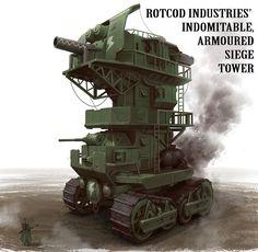 Concept tank by Nick Carver. http://nickcarver.blogspot.jp/ #dieselpunk