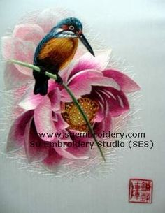 These bird pictures are not painted or printed, but hand embroidered with thousands of fine silk threads by professional Chinese embroidery artists from Suzhou, the hometown of silk hand embroidery art in China.