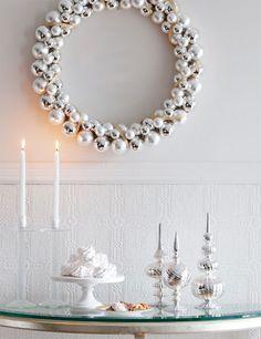christmas white silver