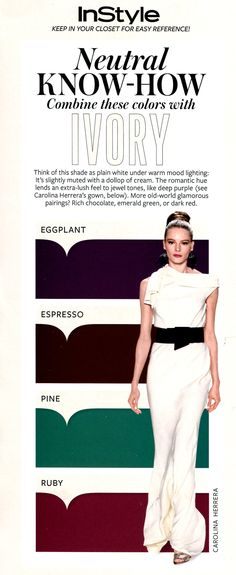 InStyle - What to wear with Ivory