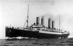 Kaiser Wilhelm der Grosse, Norddeutscher Lloyd steamship that entered service in 1897. She was the first four-stacker on the North Atlantic passenger run.